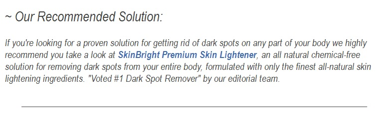 proven solution for removing dark spots